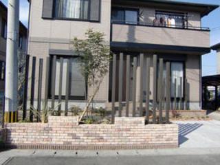 アルミと植物を組み合わせて、さりげなく目隠し! 菊陽町K邸 2010年1月
