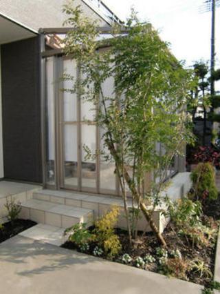 門柱リフォームとガーデンルームの工事 熊本市K邸2010年12月