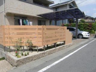 目隠しフェンスとカーポート工事 菊陽町N邸 2011年3月