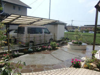 芝生の庭をすっきりリフォーム!合志市K邸 2011年8月