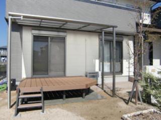 樹脂デッキと花壇づくり 熊本市T邸 2011年11月