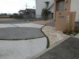 家を引き立てる外構工事 熊本市K様邸 2012年1月