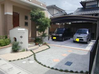 駐車場のリフォーム 熊本市北区S様邸 2012年8月